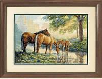 Набор для вышивания DIMENSIONS 35174 Лошади у источника, фото 1