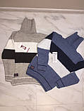Детский свитер под горло на мальчика турецкой фирмы H&R под горло, полоска, синий, фото 3