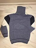 Детский свитер под горло на мальчика турецкой фирмы H&R под горло, полоска, синий, фото 4