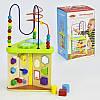 Развивающий центр C30386 деревянная обучающая игра лабиринт для пальчиков сортер  шестеренки в коробке