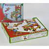 Деревянный конструктор C31513 детская развивающая игра  вид А вид Б болты гайки гаечный ключ шестеренки