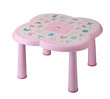 Детский столик АВС Babyhood розовый (BH-509P)