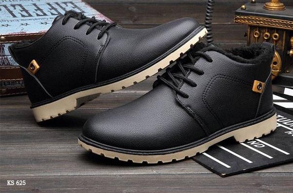 Полуботинки кожаные (черные)