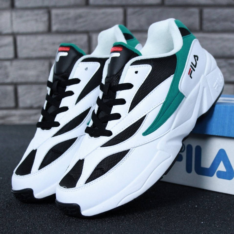 Fila Venom White Black Green (реплика)