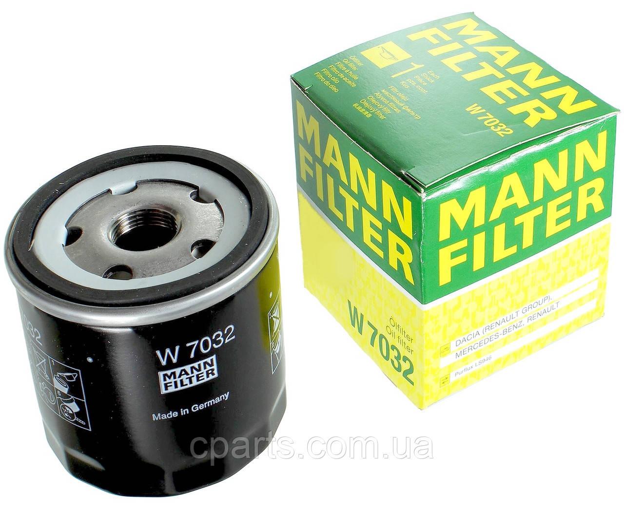 Масляный фильтр Renault Duster 2 с 2018 года 1.5 DCI (Mann W7032)(высокое качество)