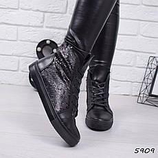 """Ботинки, ботильоны черные """"Perlite"""" НАТУРАЛЬНАЯ КОЖА, повседневная, демисезонная, осенняя, женская обувь, фото 2"""