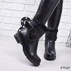 """Ботинки, ботильоны черные ЗИМА """"Simone"""" эко кожа, повседневная, зимняя, теплая, женская обувь, фото 3"""