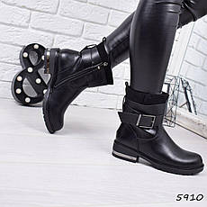 """Ботинки, ботильоны черные ЗИМА """"Simone"""" эко кожа, повседневная, зимняя, теплая, женская обувь, фото 2"""