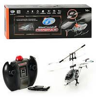 Гелікоптер на радіокеруванні, гіроскоп, на акумуляторі, триканальний пульт, USB, в коробці 45-17-8 см, фото 1