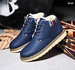 Ботинки низкие узор (синие) , фото 3