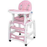 Детский стульчик для кормления Bambi M 1563-8-1 Розовый (M 1563-8-1_int)