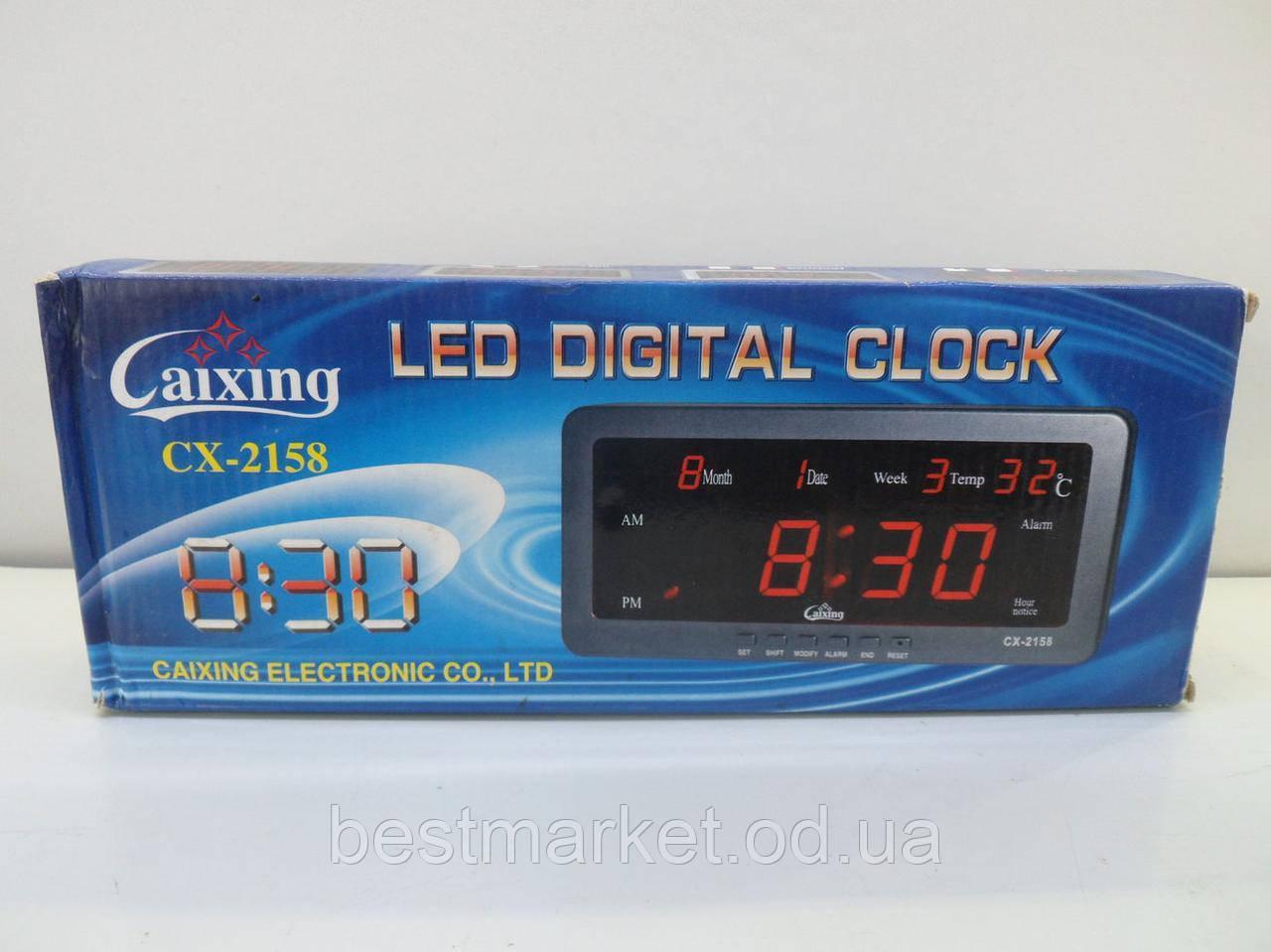 Настольные часы CX 2158 электронные Led Digital часы с будильником