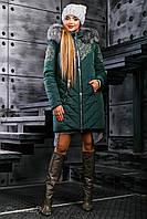 Куртка женская, цвет: зеленый, размер: L, XL, 2XL, 3XL
