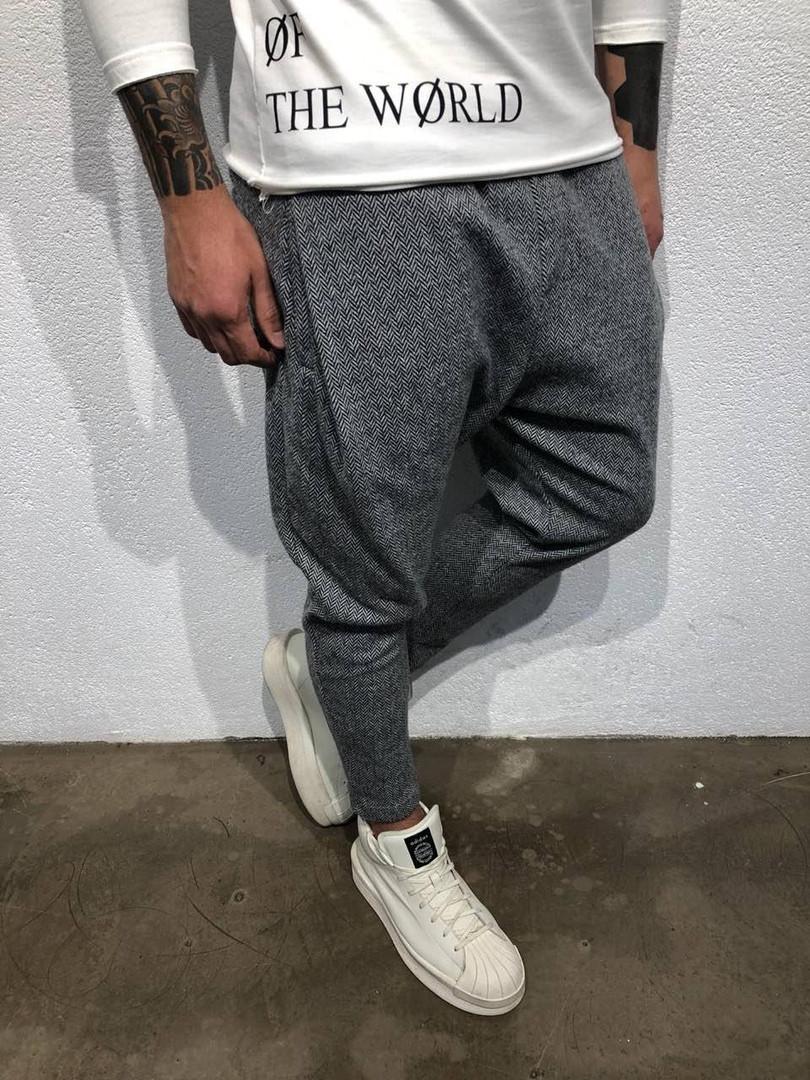 e1e454301aa9 Теплые мужские брюки серые - Интернет-магазин обуви и одежды KedON в Киеве