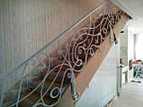 Білі ковані перила в стилі модерн, фото 2