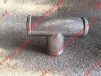 Тройник системы охлаждения Заз 1102 1103 таврия славута Сенс sens алюминиевый (большой), фото 1