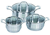 Набор посуды (Набор кастрюль) 6 пр. Barton Steel BS 6566
