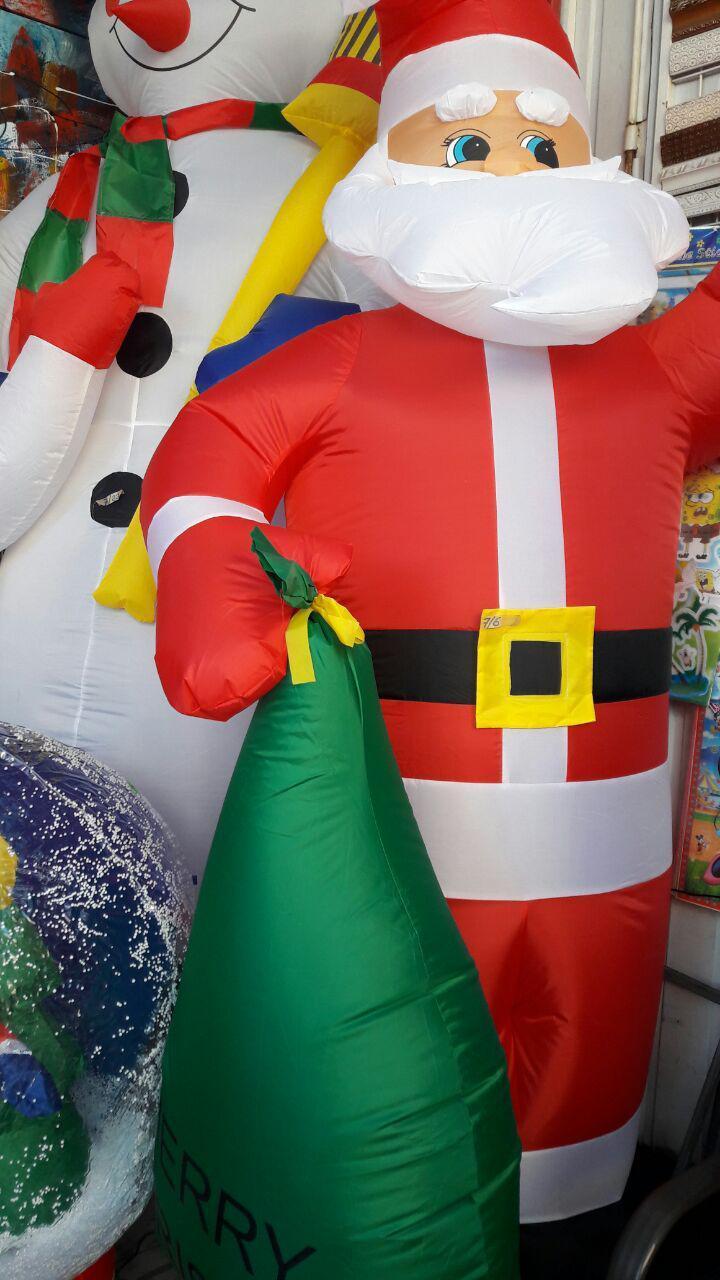 Санта Клаус надувной 2,4 м, светится