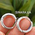 Мужские казацкие серьги кольца из серебра - Мужские серебряные серьги кольца, фото 3