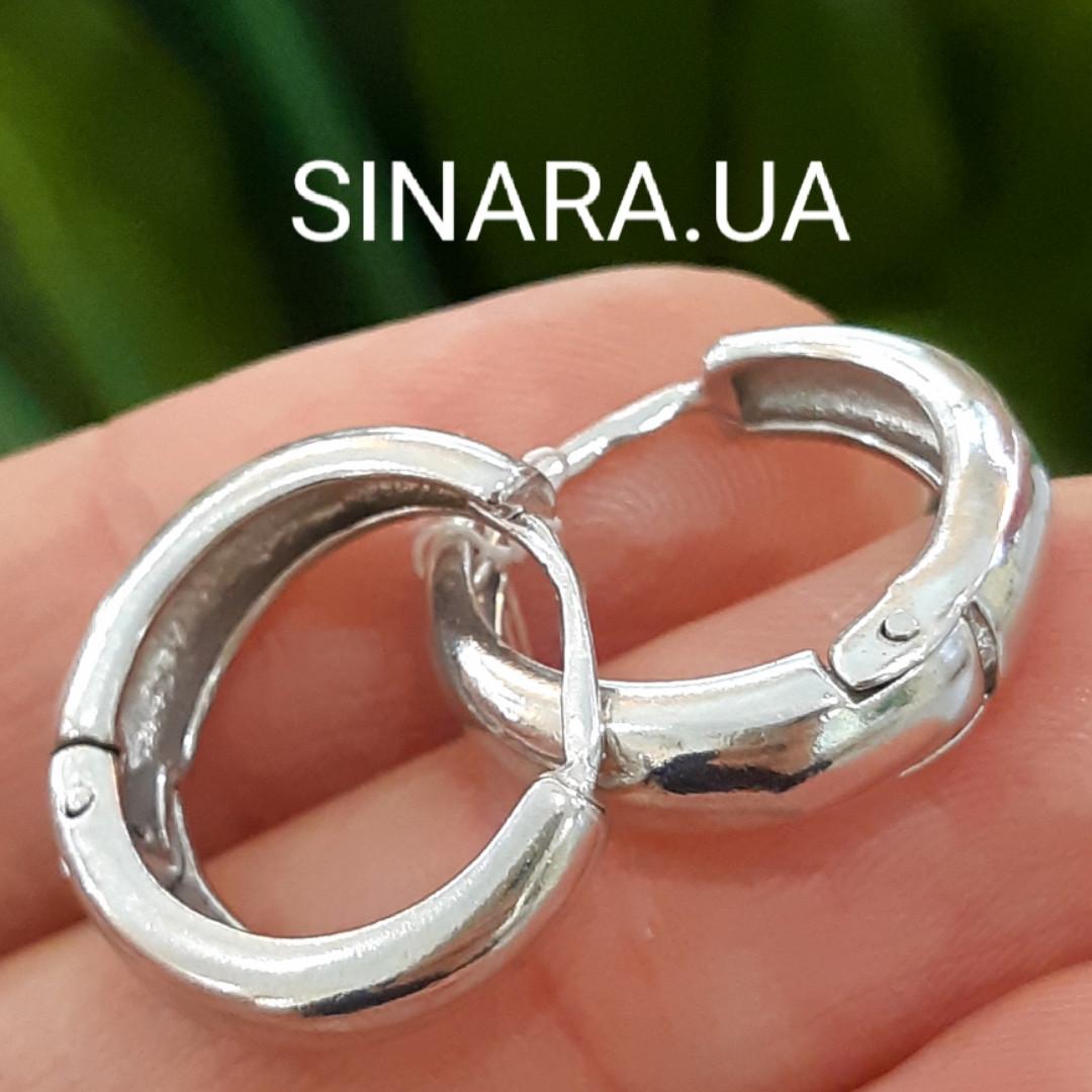 Мужские казацкие серьги кольца из серебра - Мужские серебряные серьги кольца
