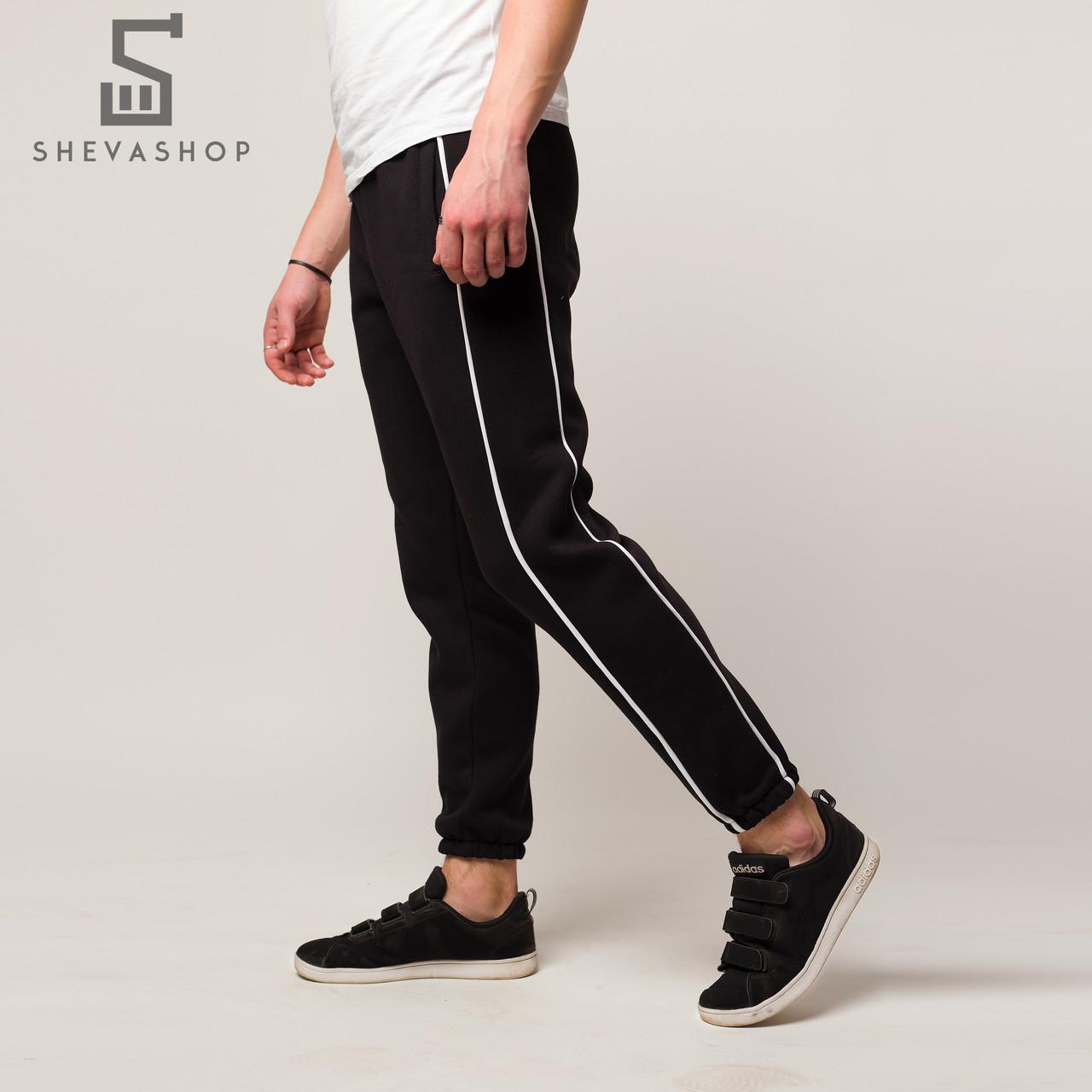 Тёплые спортивные штаны мужские ТУР Sektor чёрные