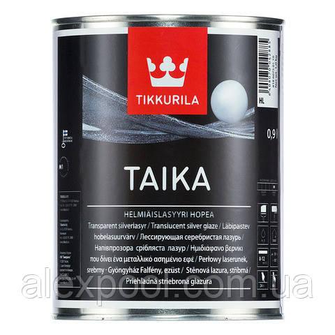 Taika одноцветная перламутровая лазурь HL (серебристый) 0,9 л