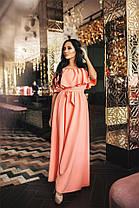Вечернее женское платье в пол с перфорацией (6 цветов) Р-ры 42-52. (141)477., фото 2