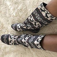 Тканевые женские стильные короткие сапожки Олени весна/осень в наличии размер 39. Арт-0241, фото 1