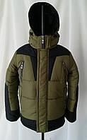 Зимняя куртка  для мальчиков подростков 34-44 серый, фото 1