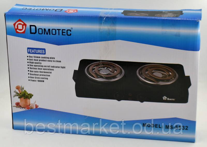 Электрическая плита Domotec MS-5532 с широкими ТЭНами