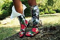 Женские зимние стильные высокие яркие сапоги. Арт-0614, фото 1