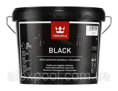 Полуматовая черная краска Black Tikkurila 3 л