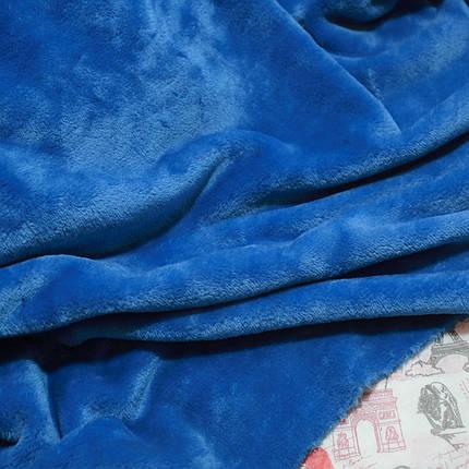 Ткань махра велсофт электрик, фото 2