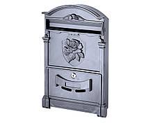 Поштова скринька VITA колір чорний Герб Троянда