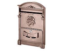 Поштова скринька VITA колір коричневий Герб Троянда