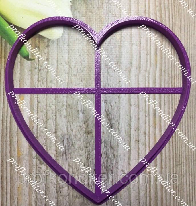 Пластикова вирубка Серце 13*13см