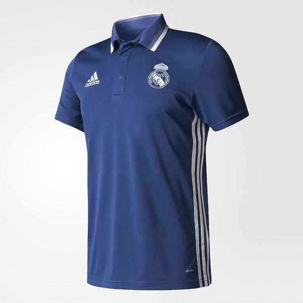 Футбольная футболка поло Реал Мадрид синяя S
