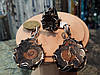 Комплект украшений аммонит в серебре