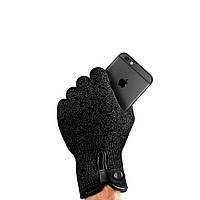 Сенсорные перчатки Mujjo Refined Touchscreen Gloves M/L чёрные, фото 1