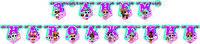 """Бумажная  гирлянда """"   З днем народження """" ( Куклы Лол   ) 2м 25 см"""
