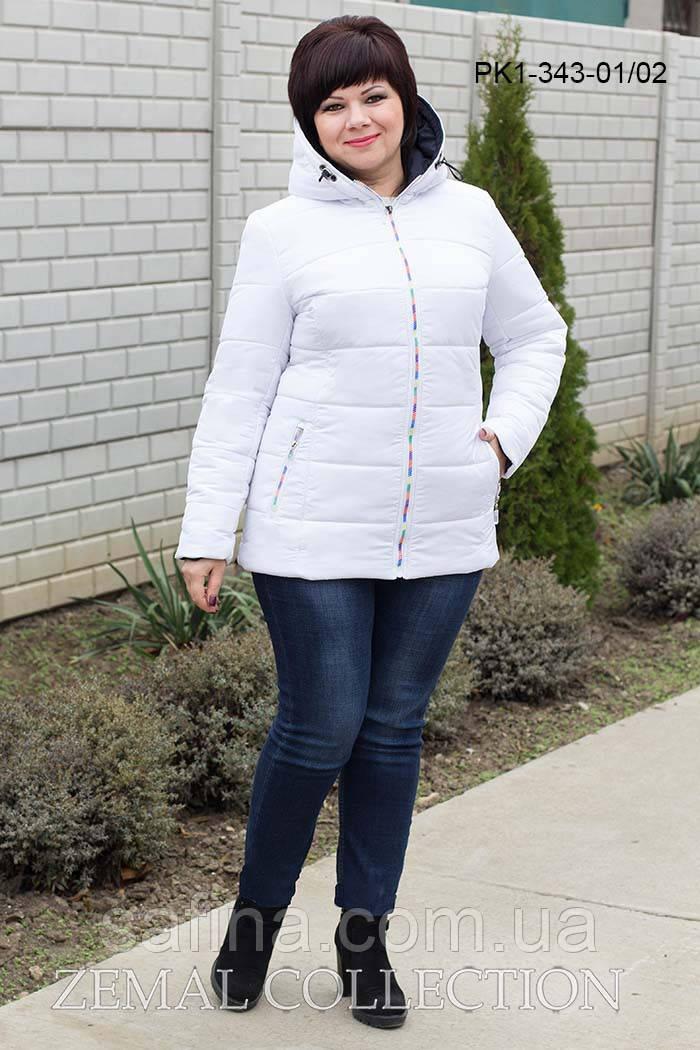 Зимняя куртка с капюшоном батал PK1-343