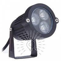 Светильник светодиодный садовый 3W 6500K чёрный / LM978 Lemanso