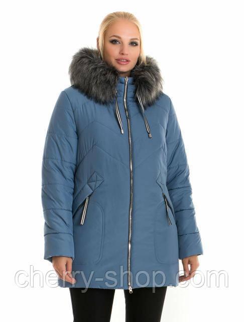 Зимова жіноча куртка з хутром - модна новинок сезону