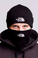 Комплект мужской зимний шапка и бафф шарф The North Face Зе Норс Фейс