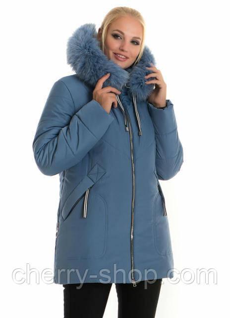 Жіноча куртка підлозі приталеного силуету , зима 2020