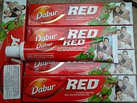 Аюрведическая красная зубная паста Dabur Red с перцем. Индия. Органика. 100 мл.