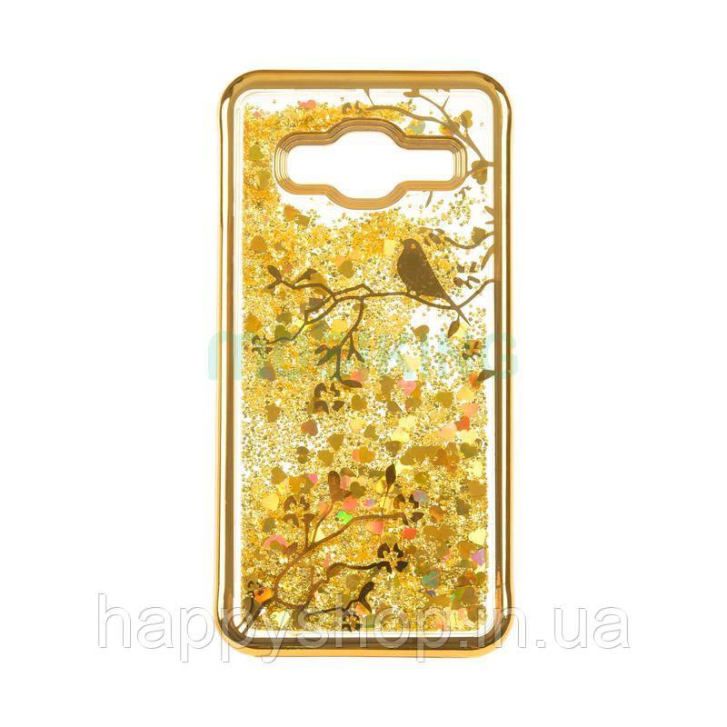 Силиконовый чехол Beckberg Aqua для Samsung Galaxy J4 2018 (J400) Bird Gold