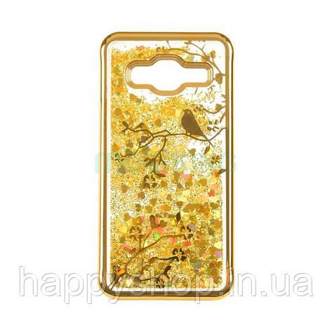 Силиконовый чехол Beckberg Aqua для Samsung Galaxy J4 2018 (J400) Bird Gold, фото 2