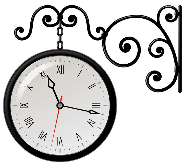 Годинник на кронштейні