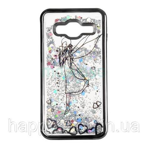 Силиконовый чехол Beckberg Aqua для Samsung Galaxy J4 2018 (J400) Fairy Black, фото 2